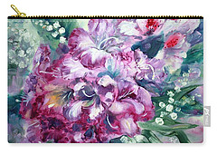 Rhododendron And Lily Of The Valley Carry-all Pouch