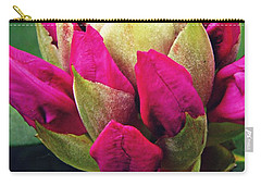 Rhododendron Velvet    Carry-all Pouch by Sarah Loft
