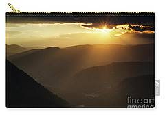 Rhodope Mountains Sunset Carry-all Pouch
