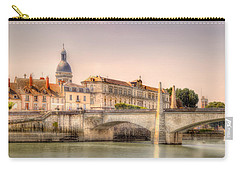 Bridge Over The Rhone River, France Carry-all Pouch