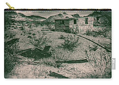Rhyolite Nevada Ghost Town Shack Carry-all Pouch by Bartz Johnson