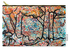Carry-all Pouch featuring the mixed media Rhythm Of The Forest by Genevieve Esson
