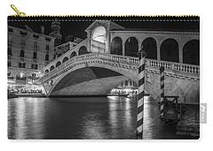 Rialto Bridge Black And White  Carry-all Pouch