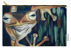 Carry-all Pouch featuring the painting Ribbit by Donna Tuten