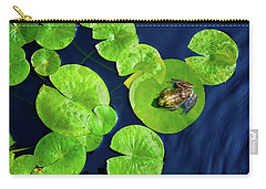 Carry-all Pouch featuring the photograph Ribbit by Greg Fortier