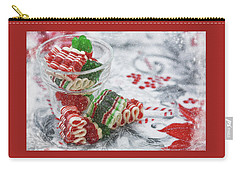 Carry-all Pouch featuring the photograph Ribbon Candy by Diane Alexander