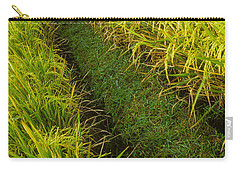 Carry-all Pouch featuring the photograph Rice Field Hiking by T Brian Jones