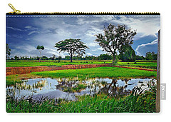 Rice Paddy View Carry-all Pouch by Ian Gledhill