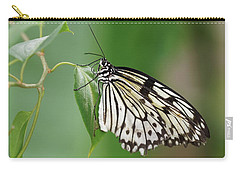 Carry-all Pouch featuring the photograph Rice Paper Butterfly by Paul Gulliver