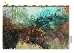Rich Earth Tones Abstract Not For The Faint Of Heart Carry-all Pouch