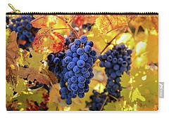 Rich Fall Colors With Grapes Carry-all Pouch