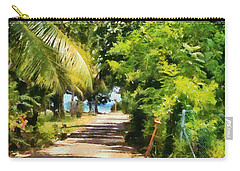 Rich Green Path Carry-all Pouch by Ashish Agarwal