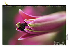 Rich Pink Lily Bud Carry-all Pouch by Joy Watson
