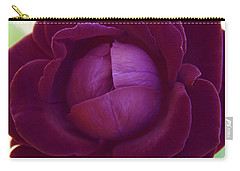 Rich Purple Lettuce Rose Carry-all Pouch