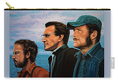 Jaws With Richard Dreyfuss, Roy Scheider And Robert Shaw Carry-all Pouch