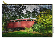 Carry-all Pouch featuring the photograph Richards Covered Bridge by Marvin Spates