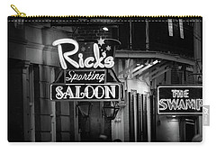 Ricks Sporting Saloon In Black And White Carry-all Pouch