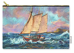 Ride The Wind And Waves Carry-all Pouch by Jieming Wang