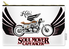 Ride With Passion Cafe Racer Carry-all Pouch