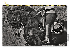 Carry-all Pouch featuring the photograph Rider And Steed Dance D6032 by Wes and Dotty Weber