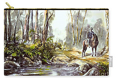 Rider By The Creek Carry-all Pouch