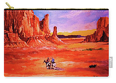 Riders In The Valley Of The Giants Carry-all Pouch