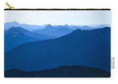 Carry-all Pouch featuring the photograph Ridges And Layers by Lynn Hopwood
