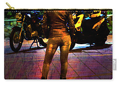 Carry-all Pouch featuring the photograph Riding Companion II by Al Bourassa