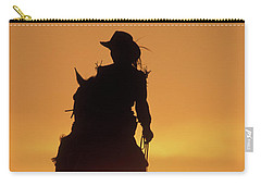 Riding Cowgirl Sunset Carry-all Pouch