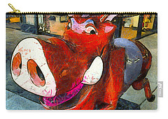 Carry-all Pouch featuring the photograph Riding Pig Of Pismo Beach by Floyd Snyder
