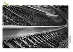 Carry-all Pouch featuring the photograph Riding The Rail by Doug Camara