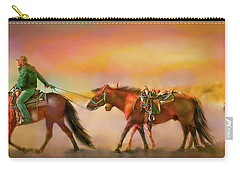 Carry-all Pouch featuring the digital art Riding The Surf by Kari Nanstad