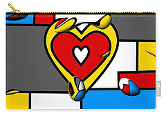 Carry-all Pouch featuring the digital art Right In The Heart By Nico Bielow by Nico Bielow