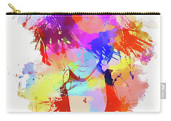 Rihanna Paint Splatter Carry-all Pouch by Dan Sproul