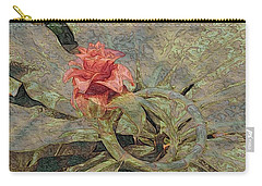 Carry-all Pouch featuring the photograph Ring Around The Posy by Kathie Chicoine