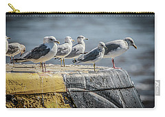 Ring Billed Gulls Carry-all Pouch by Ray Congrove