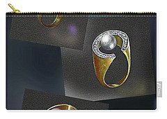 Ring  Designs Carry-all Pouch by Hartmut Jager