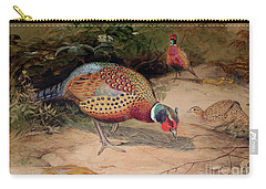 Ring Necked Pheasant Carry-all Pouch by Joseph Wolf