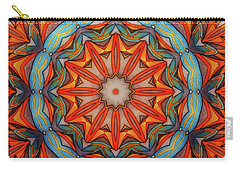 Carry-all Pouch featuring the drawing Ring Of Fire by Mo T