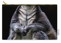 Carry-all Pouch featuring the photograph Ring Tailed Lemur by Chris Lord