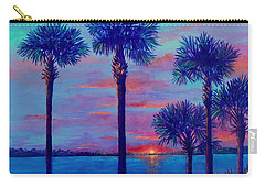 Ringling Bridge Sunset Carry-all Pouch by Lou Ann Bagnall