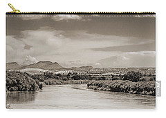 Rio Grande In Sepia Carry-all Pouch by Allen Sheffield