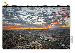 Rio Grande River Sunrise 2 - White Rock New Mexico Carry-all Pouch by Brian Harig