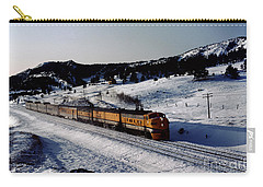 Rio Grande Zephyr Trainset In The Snow, Plainview Colorado, 1983 Carry-all Pouch