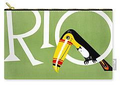 Rio Vintage Travel Poster Restored Carry-all Pouch
