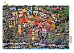 Carry-all Pouch featuring the photograph Riomaggiore by Allen Beatty