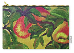 Carry-all Pouch featuring the painting Ripe Pears On The Tree by Margaret Harmon