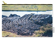 Rippled Lava At The Mid-atlantic Rise In Thingvellir, Iceland Carry-all Pouch by Allan Levin