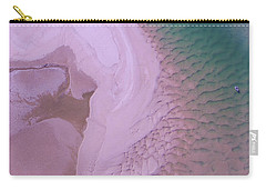 Carry-all Pouch featuring the photograph Ripples And Sand Bars On The Noosa River by Keiran Lusk
