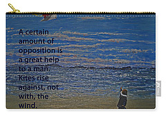 Rise Against The Wind Carry-all Pouch by Ian  MacDonald